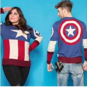 Marvel Captain America Sweater Small and Large